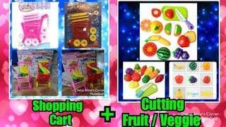 Shopping Cart + Cutting Fruits / Vegies