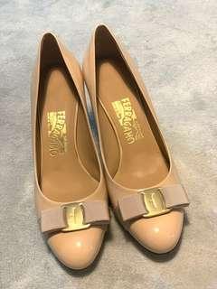 Ferragamo 7cm高跟鞋👠size8(38-38.5)