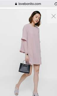 31795a9656d7 Love bonito BNWT Draeya Layered Bell Sleeve Dress - Mailed