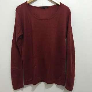 OXYGEN Maroon Sweater