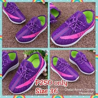 Purple Polyester Shoes