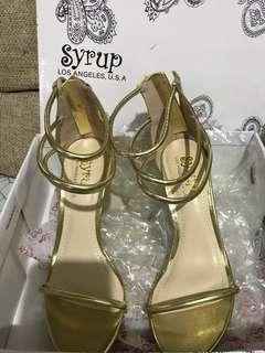 Ladies Heels Gold