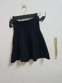 🚚 全新黑色高腰傘裙