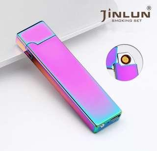 3🔥Summer ultra-thin 8mm Cigarette Lighter USB Charging Arc Windproof Lighter Electronic USB Lighter Men Business Gifts-JL803