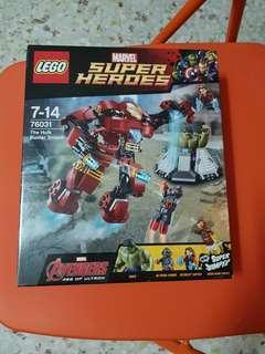 Lego Marvel 76031 The Hulk Buster Smash NEW