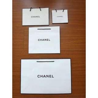 🚚 【名牌專櫃紙袋】CHANEL香奈兒 大中小專櫃紙袋