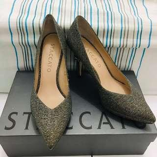 Staccato Gold Party Heels