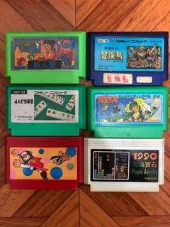 FC game任天堂遊戲一套6盒Set 1共100元