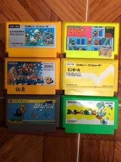 FC game任天堂遊戲一套6盒Set 2共100元