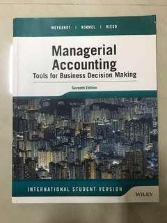 Managerial Accounting (Tools for Business Decision Making-Seventh Edition) by Wiley