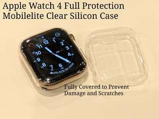 🚚 Apple Watch 4 40/44mm Full Protection Clear Silicon Case