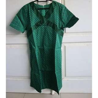 #bersihbersih GREEN PAISLEY MINI DRESS