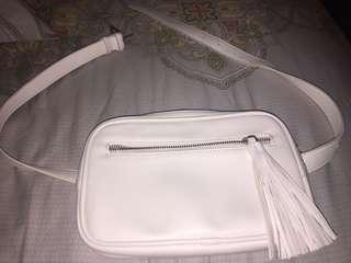 FOREVER21 white waist bag