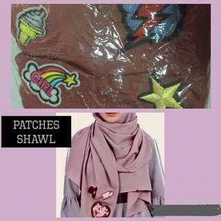 ❤️BN patches long shawl