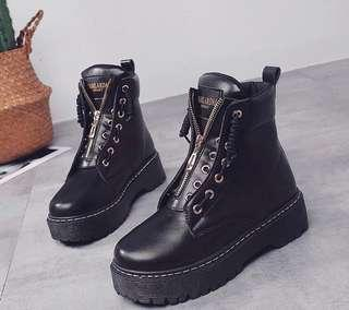 Black Zip Soft leather Boots