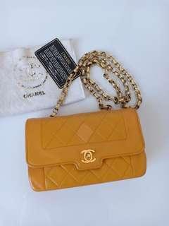 Chanel Slingbag Jaune GHW #1 with Card,Holo&DB (18x11cm)