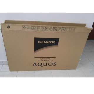 "50"" Sharp Empty TV Box"
