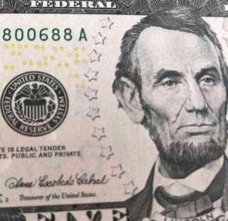 US SERIES 2006 $5 *IA40800688A 路發發* LUCKY NOTE Superb GEM UNC