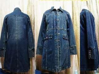🚚 優質純棉牛仔舖棉長大衣 L🎉特價品