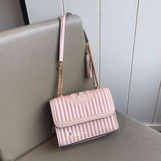 NEW❤️Tory Burch Fleming Stud Convertible Shoulder Bag- pink