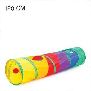 """""""Rainbow"""" 120cm Straight Cat Tunnel - Tuxxytail"""
