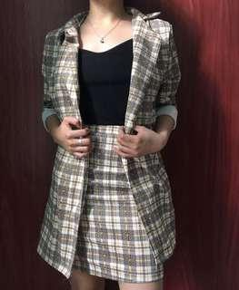 Formal / casual terno blazer and skirt