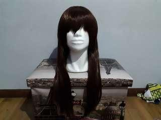 URGENT CLEARANCE Dark brown 80cm Cosplay Wig7