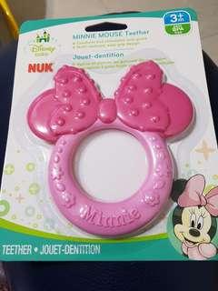 BN nuk minnie mouse baby teething toy