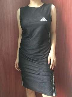 Adidas sexy sleeveless dress with slit