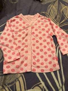 純棉粉紅點點小外套