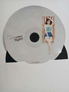 TWICE OFFICIAL SUMMER NIGHTS JEONGYEON CD PLATE
