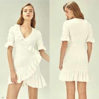 Plain ruffle dress 3 colors