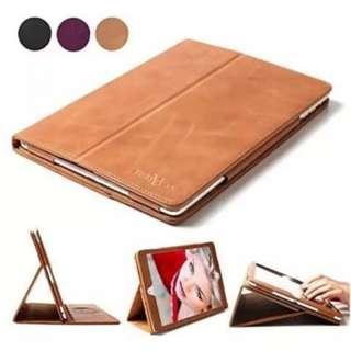 iPad Air 2 Case, BoriYuan Smart Genuine Leather Stand Folio Cover for Apple iPad Air 2 ----- 1135