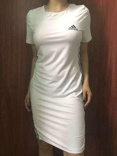 Adidas sexy dress shirt with slit