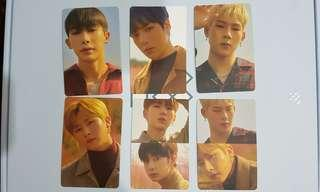 WTS Monsta x 2018 season greeting pc and magnet