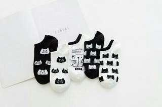 Cute Korean socks (Cat designs)