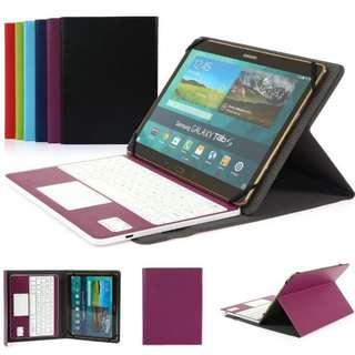 Besmall Ultra-Slim Bluetooth 3.0 Keyboard Purple+White Case for Samsung Galaxy Tab Pro 10.1 Tablet with QWERTY UK Layout Removable Keyboard and Touchpad - Compatible with 10.1 inch Any Android / Windows Tablet ---- 1136