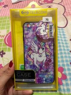 Unicorn Iphone 7/8 case with tempered & pop socket