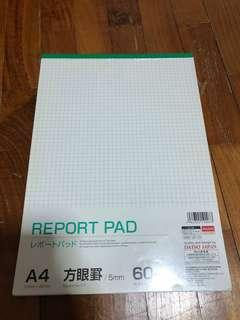 Report pad daiso (grids)