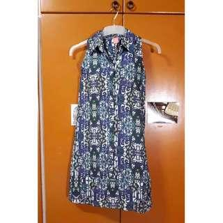 Printed Halter Style Shirtdress Size S