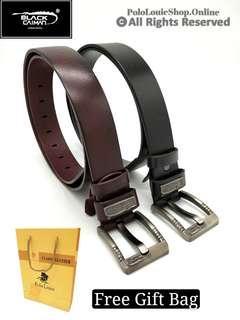 High Grade Original Black Caiman Genuine Cow Leather Belt Kulit Lembu Luxury