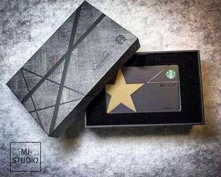 🚚 China Starbucks Limited Edition VIP Black Gold Rare Reward Card with Box