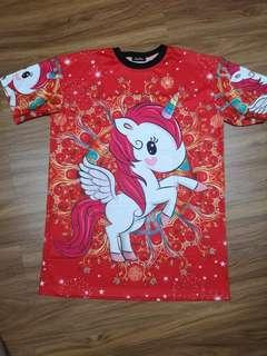 Chinese New year Unicorn cartoon dress