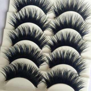 False Eyelashes For Sale (blue and black color)