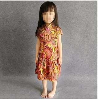 [Clearance] Instock 1pc size 100 3T/4T only - Brand new Cheongsam Qipao Dress Skirt for Girl Toddler Baby