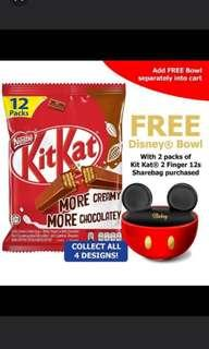 KitKat Minnie and Mickey mouse bowl