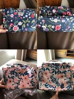 [Brand New] Jujube Be Sassy Midnight Posy and Whimsical Watercolor Pink Lining