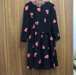 Topshop Hearts Dress