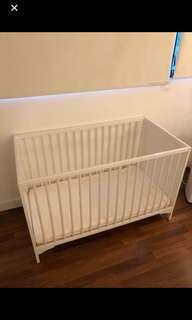 Baby Cot (Crib) from IKEA with a mattress