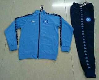 Napoli 18-19 Retro Blue Soccer Jacket